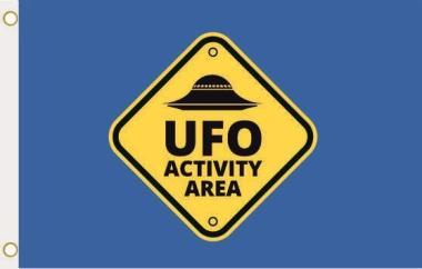 Fahne Alien Area UFO blau 90 x 150 cm