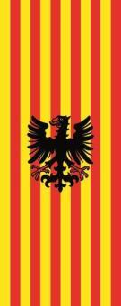 Flagge Alpen im Hochformat