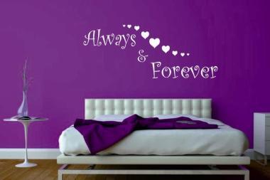 Wandtattoo Always & Forever