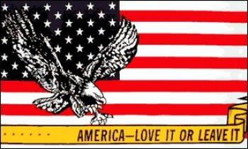 Fahne USA America-Love it or leave it 90 x 150 cm