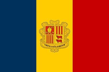Fahne Andorra 60 x 90 cm