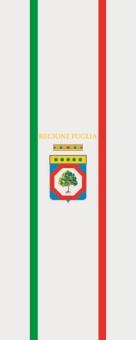 Flagge Apulien im Hochformat