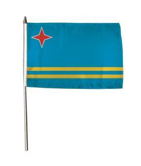 Stockflagge Aruba 30 x 45 cm