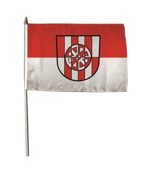 Stockflagge Assamstadt 30 x 45 cm