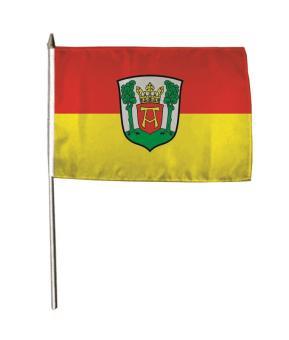Stockflagge Aurich 30 x 45 cm