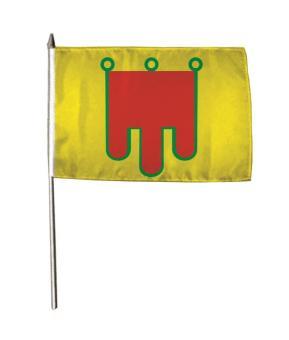 Stockflagge Auvergne 30 x 45 cm