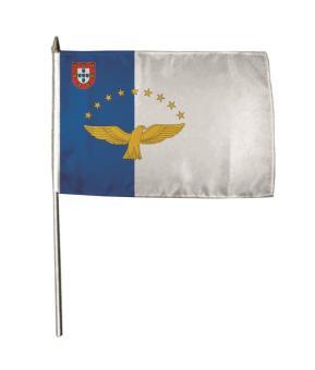 Stockflagge Azoren 30 x 45 cm