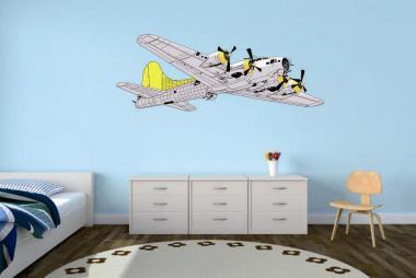 Wandtattoo B-17 Color