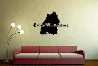 Wandtattoo Baden-Württemberg Karte
