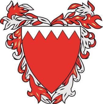 Aufkleber Bahrain Wappen