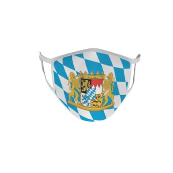 Gesichtsmaske Behelfsmaske Mundschutz Bayern Löwenwappen L