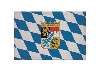 Aufnäher Patch Bayern mit Wappen 9 x 6 cm