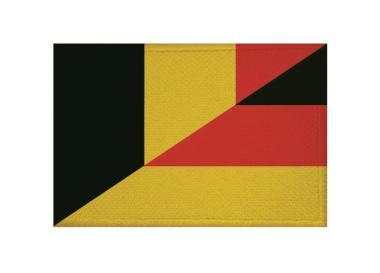 Aufnäher Patch Belgien - Deutschland 9 x 6 cm9 x 6 cm