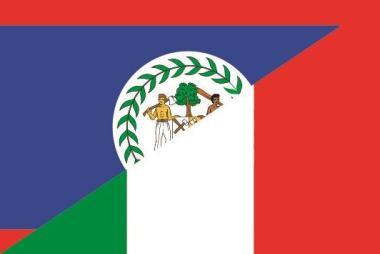 Flagge Belize - Italien
