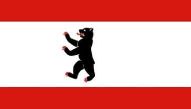 Fahne Berlin mit Hohlsaum 90 x 150 cm