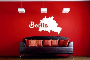 Wandtattoo Berlin Karte