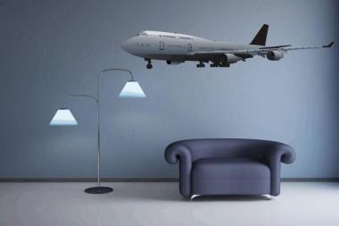 Wandtattoo Boeing 747 Color Motiv Nr. 1