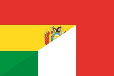 Flagge Bolivien - Italien