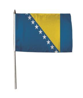 Stockflagge Bosnien Herzegowina 30 x 45 cm
