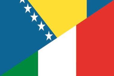 Flagge Bosnien-Herzegowina - Italien