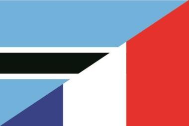 Flagge Botswana - Frankreich