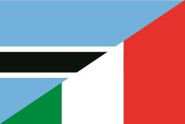 Flagge Botswana - Italien