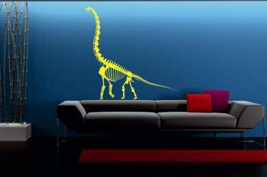 Wandtattoo Brachiosaurus Skelett