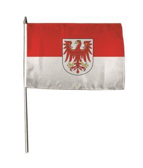 Stockflagge Brandenburg 30 x 45 cm
