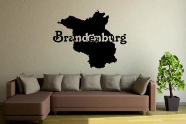 Wandtattoo Brandenburg Karte