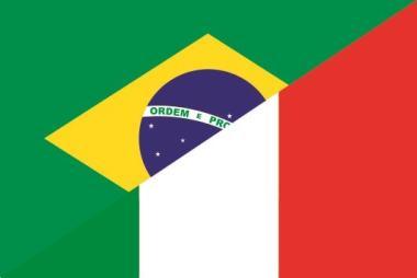 Flagge Brasilien - Italien