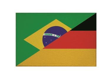 Aufnäher Patch Brasilien - Deutschland 9 x 6 cm