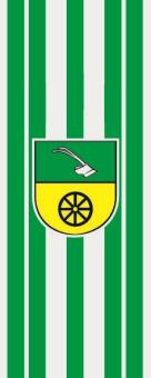 Flagge Braunsbedra im Hochformat