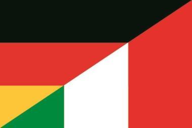 Flagge Deutschland - Italien