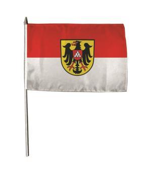 Stockflagge Breisach am Rhein 30 x 45 cm