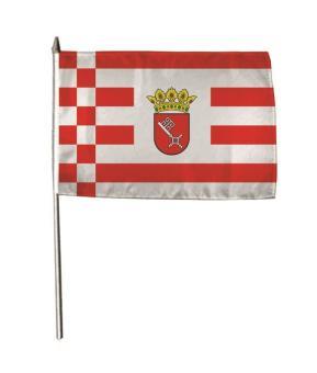 Stockflagge Bremen 30 x 45 cm