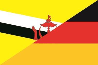 Flagge Brunei - Deutschland