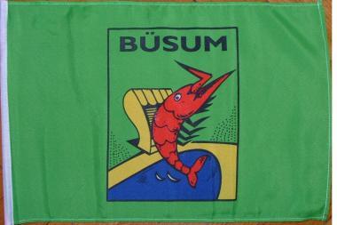 Stockflagge Büsum 30 x 45 cm