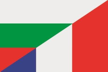Flagge Bulgarien - Frankreich
