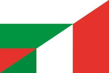 Flagge Bulgarien - Italien