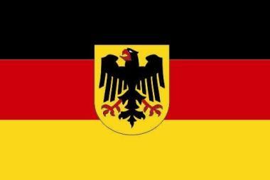 Flagge Deutschland Bundesdienstfahne 80 x 120 cm