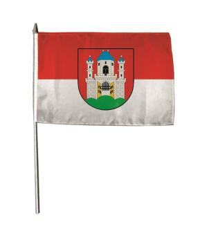 Stockflagge Burghausen 30 x 45 cm
