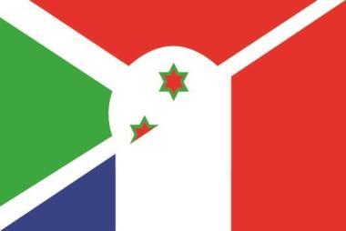Flagge Burundi - Frankreich