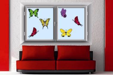Fenstertattoo Butterfly Set