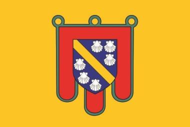 Flagge Cantal Department