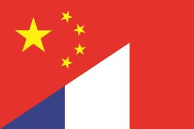 Flagge China - Frankreich