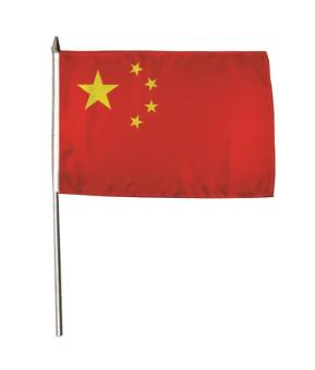 Stockflagge China 30 x 45 cm