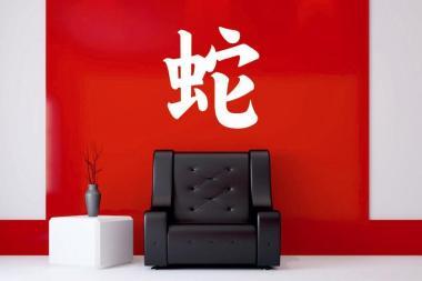 Wandtattoo Schlange Chinesisches Schriftzeichen
