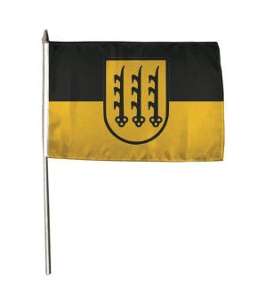 Stockflagge Crailsheim 30 x 45 cm
