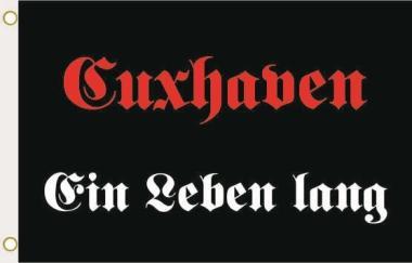 Fahne Cuxhaven ein Leben lang 90 x 150 cm