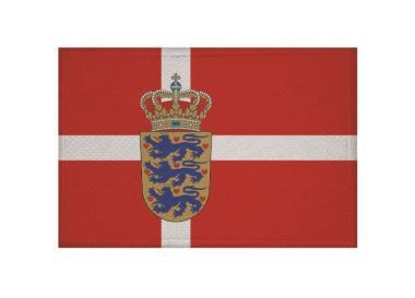 Aufnäher Patch Dänemark mit Wappen 9 x 6 cm
